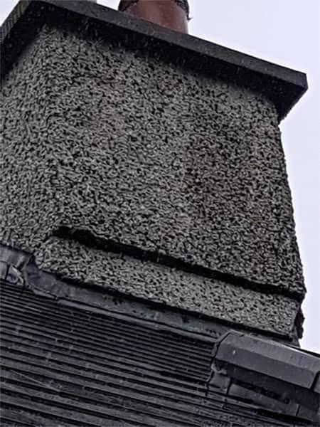 Chimney rebuild BEFORE